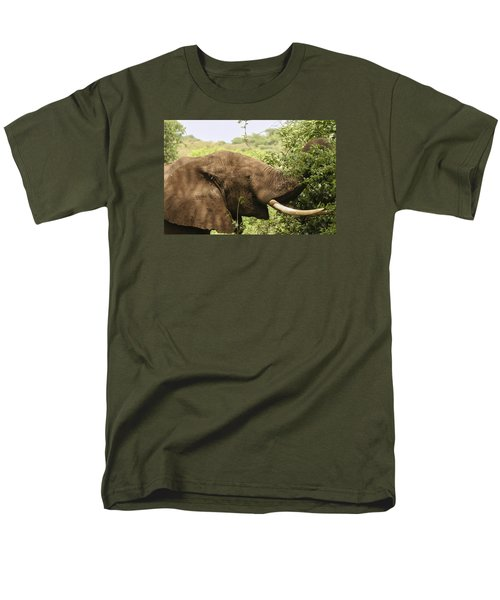 Men's T-Shirt  (Regular Fit) featuring the photograph Browsing Elephant by Gary Hall