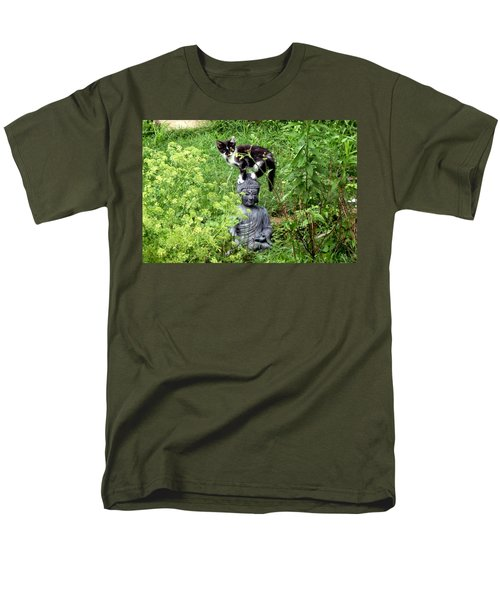 Men's T-Shirt  (Regular Fit) featuring the photograph Buddha And Friend by Cynthia Lassiter