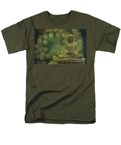 Buddha Light Gold Men's T-Shirt  (Regular Fit) by Hannes Cmarits