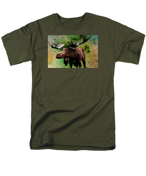 Bull Moose Men's T-Shirt  (Regular Fit) by Robin Regan