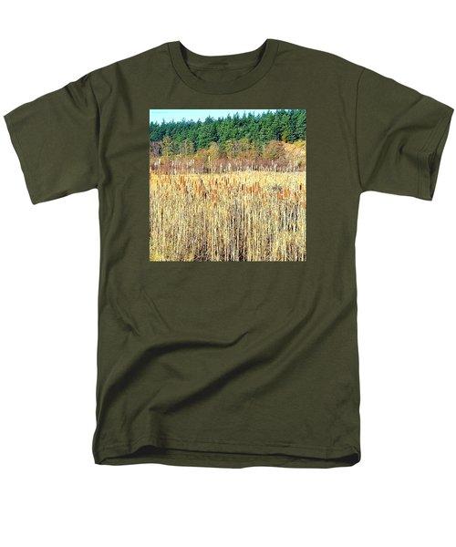 Bullrushes In Late November Men's T-Shirt  (Regular Fit) by Tobeimean Peter