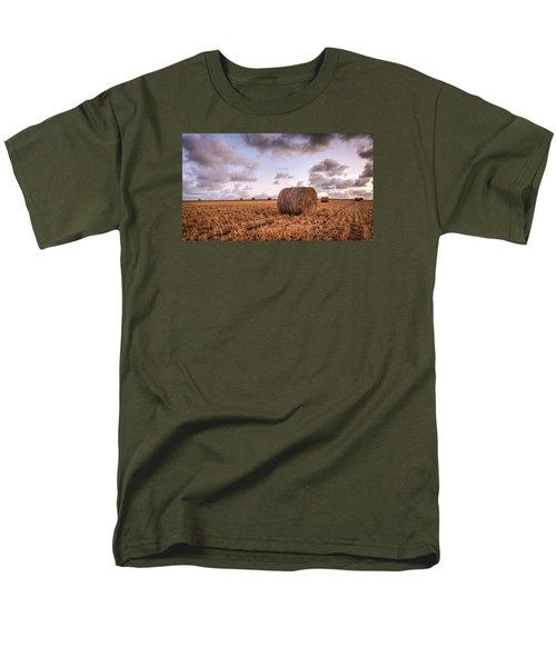 Bundy Hay Bales #3 Men's T-Shirt  (Regular Fit) by Brad Grove