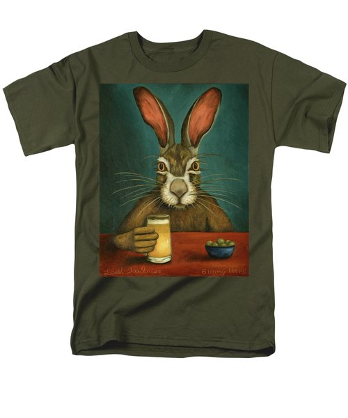 Men's T-Shirt  (Regular Fit) featuring the painting Bunny Hops by Leah Saulnier The Painting Maniac