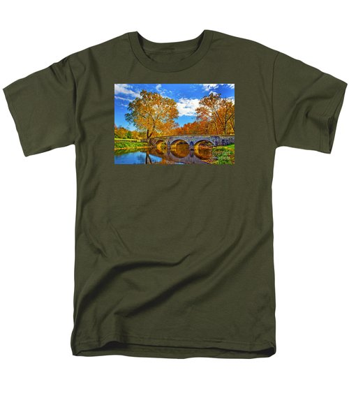 Burnside Bridge At Antietam Men's T-Shirt  (Regular Fit) by Paul W Faust -  Impressions of Light