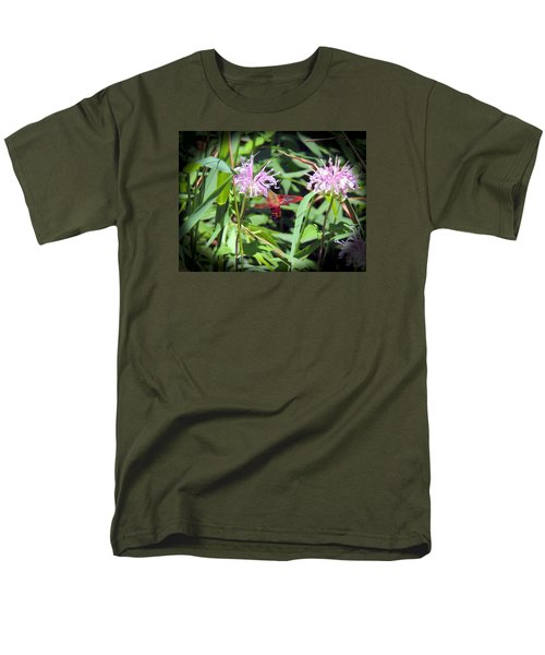 Men's T-Shirt  (Regular Fit) featuring the photograph Busy Hummingbird Moth by Teresa Schomig