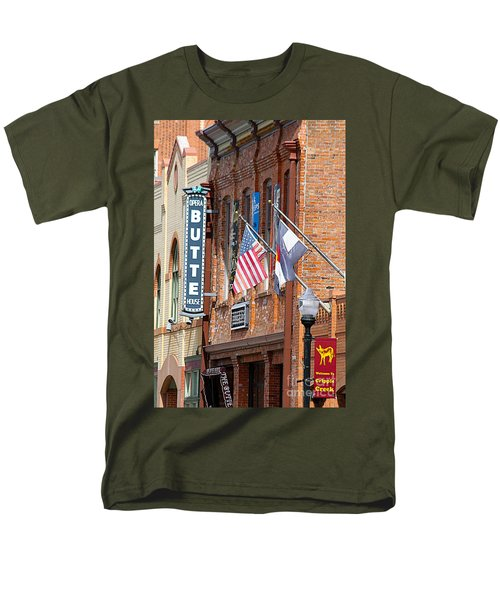 Butte Opera House In Colorado Men's T-Shirt  (Regular Fit) by Catherine Sherman