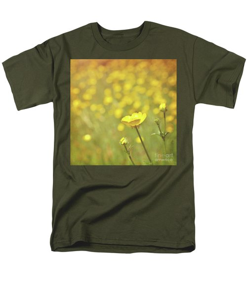 Men's T-Shirt  (Regular Fit) featuring the photograph Buttercups by Lyn Randle