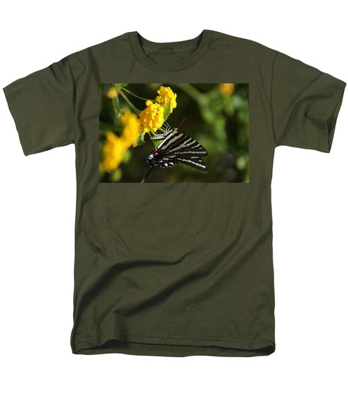 Butterflies And Blooms Men's T-Shirt  (Regular Fit)