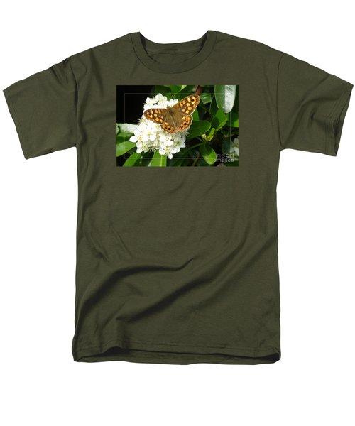 Men's T-Shirt  (Regular Fit) featuring the photograph Butterfly 1 by Jean Bernard Roussilhe