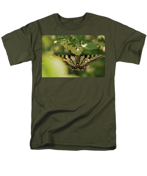 Men's T-Shirt  (Regular Fit) featuring the photograph Butterfly From Another Side by Susan Capuano