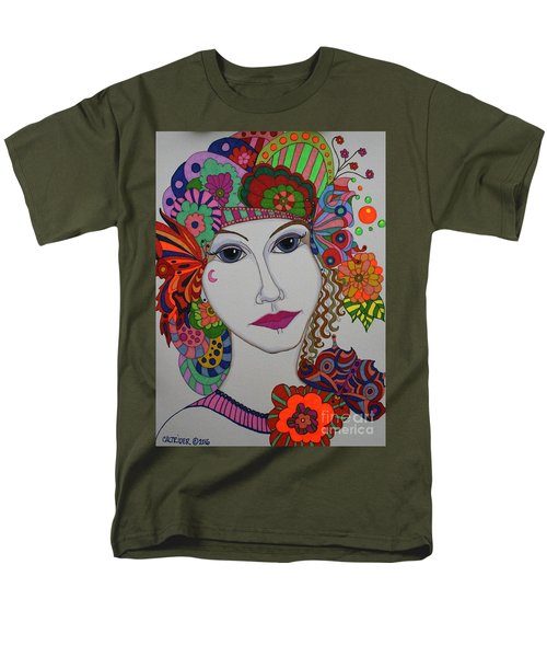 Butterfly Girl Men's T-Shirt  (Regular Fit) by Alison Caltrider