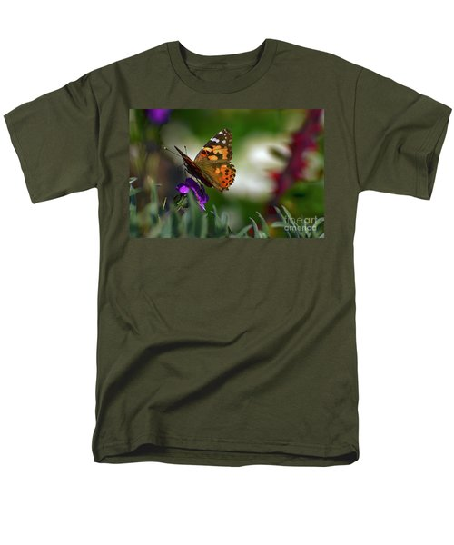 Men's T-Shirt  (Regular Fit) featuring the photograph Butterfly In Winter by Debby Pueschel