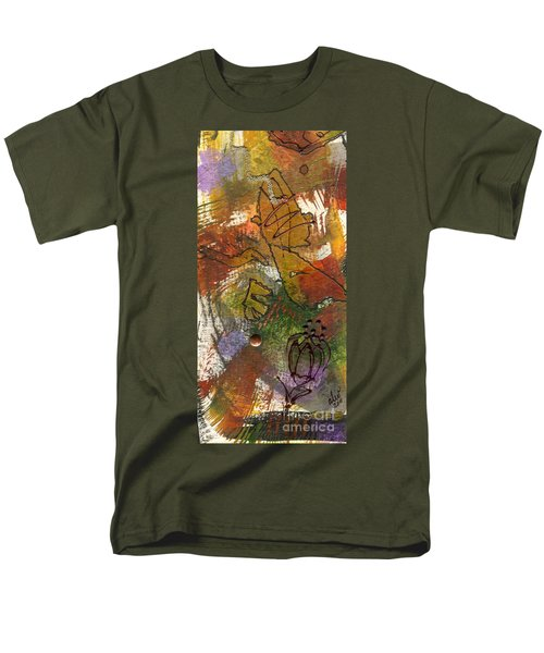 Men's T-Shirt  (Regular Fit) featuring the mixed media Butterfly Kisses by Angela L Walker