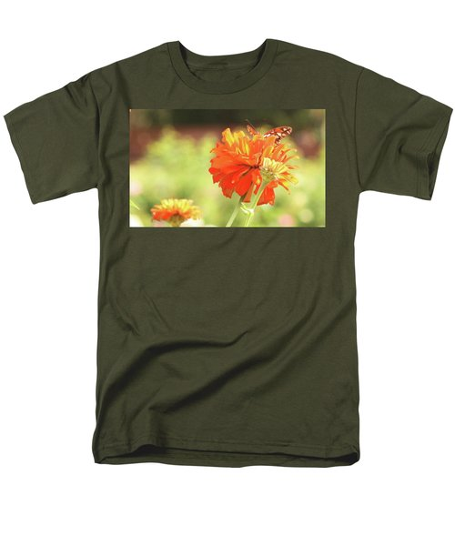 Men's T-Shirt  (Regular Fit) featuring the photograph Butterfly Peek-a-boo by Donna G Smith