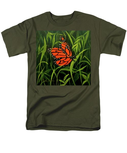 Men's T-Shirt  (Regular Fit) featuring the painting Butterfly by Roseann Gilmore