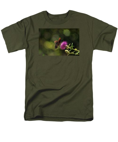 Men's T-Shirt  (Regular Fit) featuring the photograph Butterfly Touch by Rick Friedle