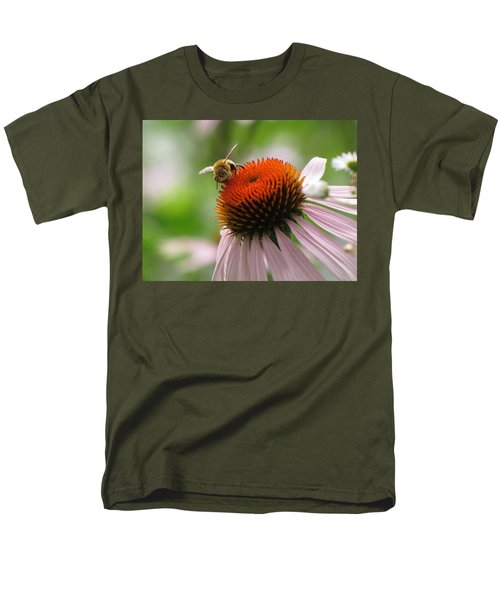 Men's T-Shirt  (Regular Fit) featuring the photograph Buzzing The Coneflower by Kimberly Mackowski