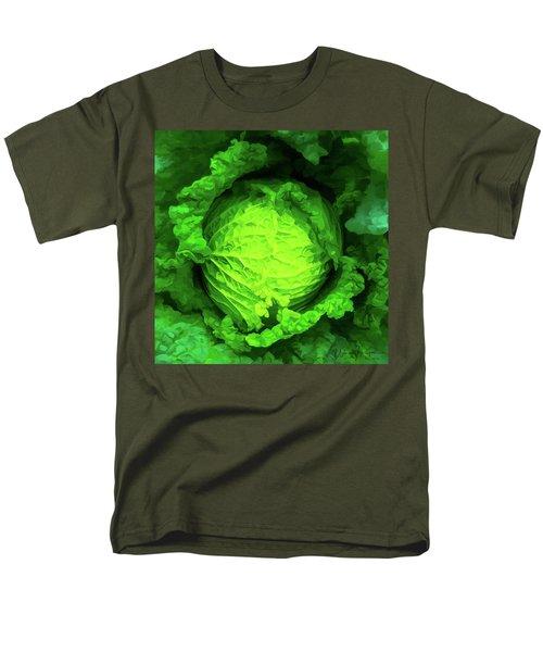 Cabbage 02 Men's T-Shirt  (Regular Fit) by Wally Hampton