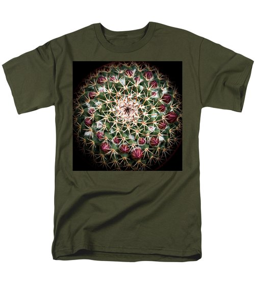 Men's T-Shirt  (Regular Fit) featuring the photograph Cactus  Flower by Catherine Lau