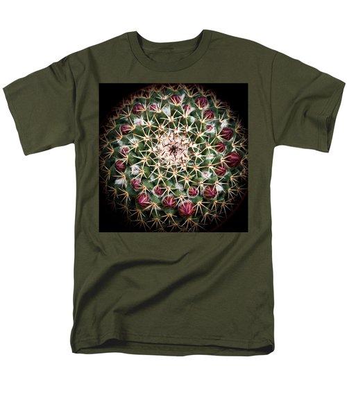 Cactus  Flower Men's T-Shirt  (Regular Fit) by Catherine Lau