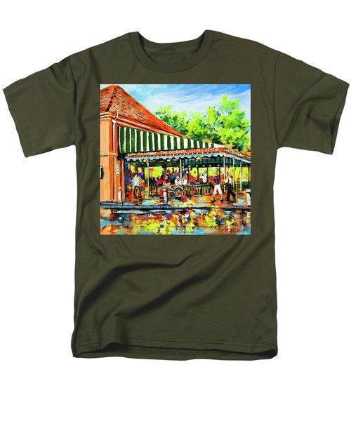 Men's T-Shirt  (Regular Fit) featuring the painting Cafe Du Monde Lights by Dianne Parks
