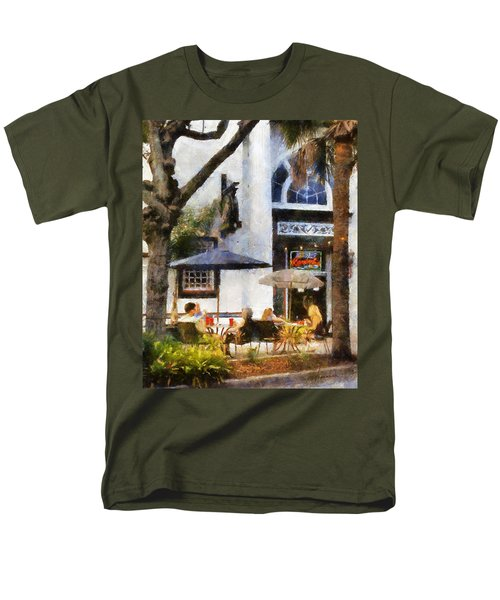 Cafe Men's T-Shirt  (Regular Fit) by Francesa Miller