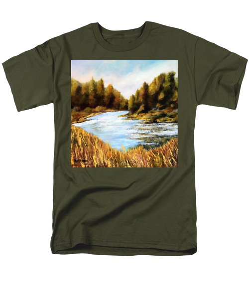 Men's T-Shirt  (Regular Fit) featuring the painting Calapooia River by Marti Green