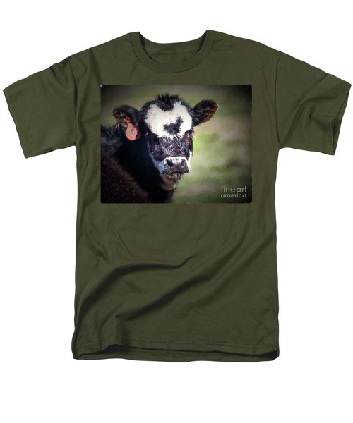 Men's T-Shirt  (Regular Fit) featuring the photograph Calf Number 444 by Laurinda Bowling