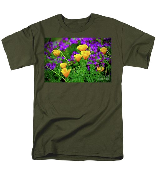 California Poppies Men's T-Shirt  (Regular Fit) by Michael Cinnamond