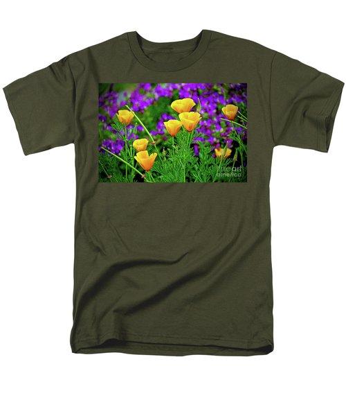 California Poppies Men's T-Shirt  (Regular Fit)