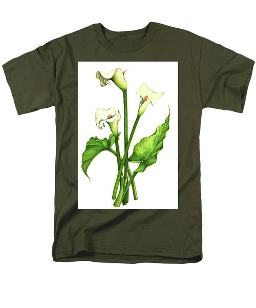 Men's T-Shirt  (Regular Fit) featuring the painting Calla Lilly by Heidi Kriel