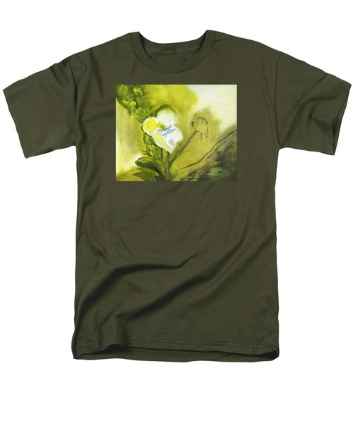 Calla Lily In Acrylic Men's T-Shirt  (Regular Fit) by Frank Bright