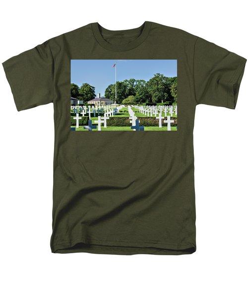 Cambridge England American Cemetery Men's T-Shirt  (Regular Fit) by Alan Toepfer