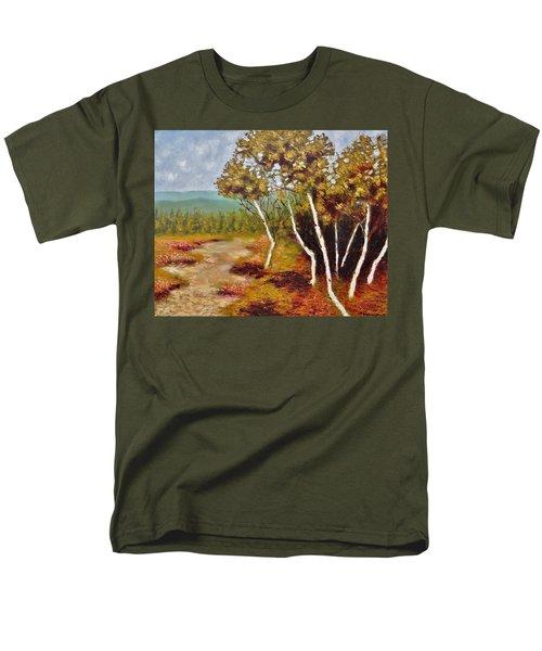 Camel Top Birches Men's T-Shirt  (Regular Fit) by Jason Williamson