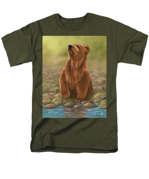 Men's T-Shirt  (Regular Fit) featuring the painting Can I Dive? by Veronica Minozzi