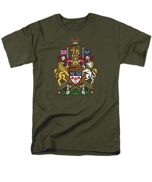 Men's T-Shirt  (Regular Fit) featuring the drawing Canada Coat Of Arms by Movie Poster Prints