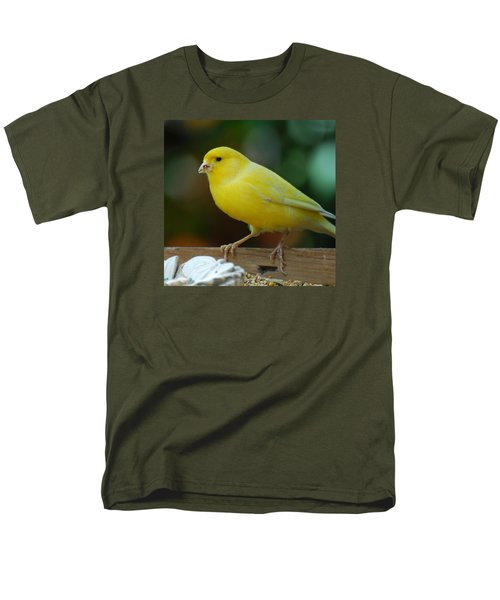 Men's T-Shirt  (Regular Fit) featuring the photograph Canary Domesticated by Ramona Whiteaker