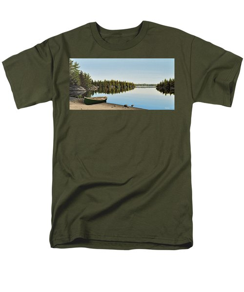 Canoe The Massassauga Men's T-Shirt  (Regular Fit) by Kenneth M  Kirsch