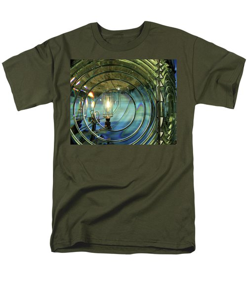 Cape Blanco Lighthouse Lens Men's T-Shirt  (Regular Fit) by James Eddy