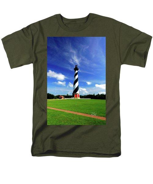 Men's T-Shirt  (Regular Fit) featuring the photograph Cape Hatteras Lighthouse by Meta Gatschenberger
