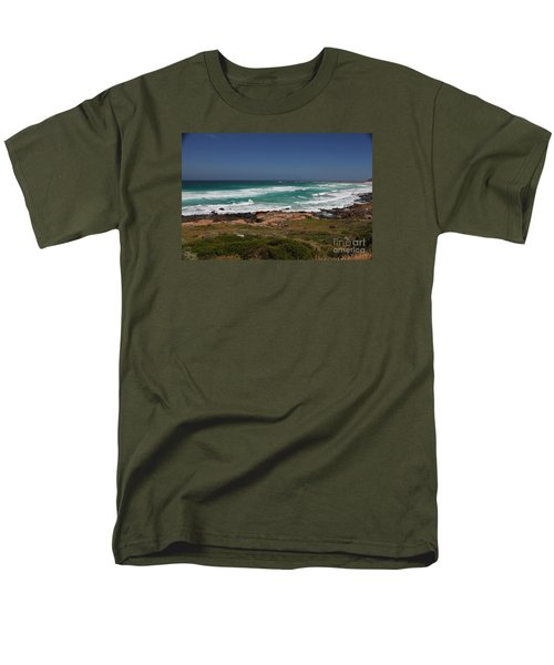 Capetown Peninsula Beach Men's T-Shirt  (Regular Fit) by Bev Conover