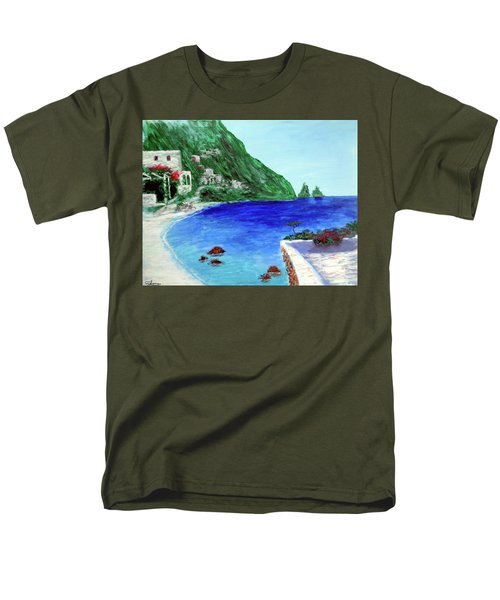 Men's T-Shirt  (Regular Fit) featuring the painting  Capri by Larry Cirigliano