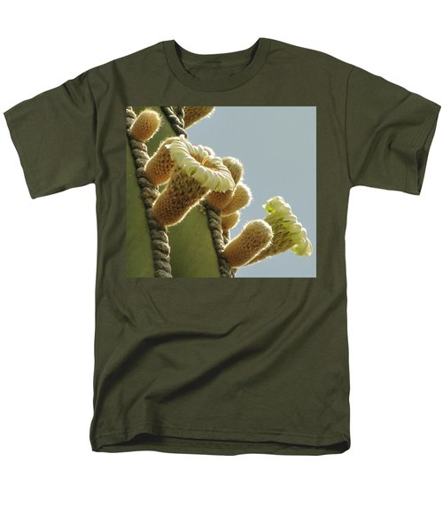 Men's T-Shirt  (Regular Fit) featuring the photograph Cardon Cactus Flowers by Marilyn Smith