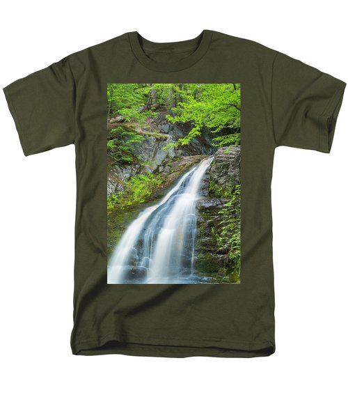 Men's T-Shirt  (Regular Fit) featuring the photograph Cascade Waterfalls In South Maine by Ranjay Mitra