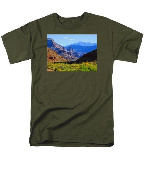 Castle Valley Men's T-Shirt  (Regular Fit) by Laura Ragland