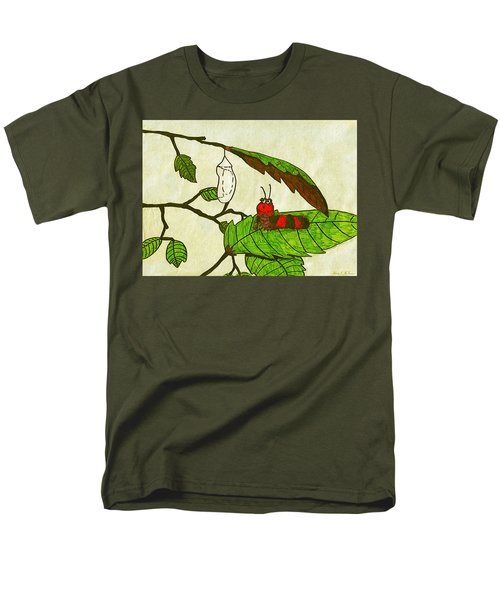 Men's T-Shirt  (Regular Fit) featuring the drawing Caterpillar Whimsy by Wendy McKennon