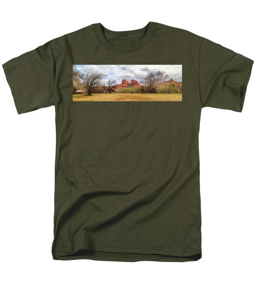 Men's T-Shirt  (Regular Fit) featuring the photograph Cathedral Rock Panorama by James Eddy