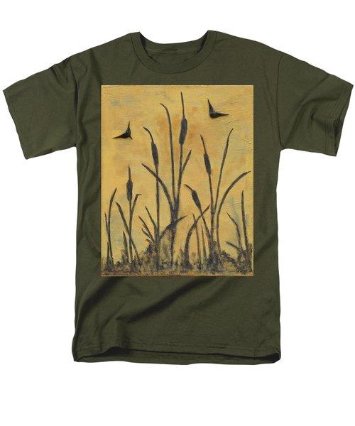 Cattails I Men's T-Shirt  (Regular Fit) by Trish Toro