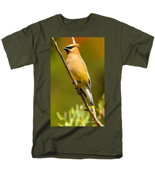 Cedar Waxwing Men's T-Shirt  (Regular Fit) by Adam Jewell