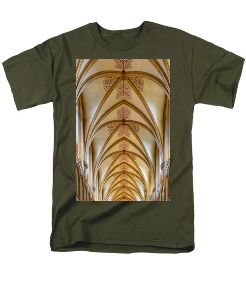 Ceiling, Wells Cathedral. Men's T-Shirt  (Regular Fit) by Colin Rayner